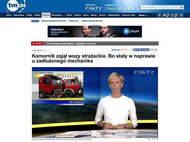 Materiał stacji TVN - screen ze strony TVN24
