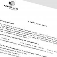 Casus Finanse S.A. kupuje dług od BZ WBK i od raz sprzedaje do TRIGON PROFIT NSFIZ