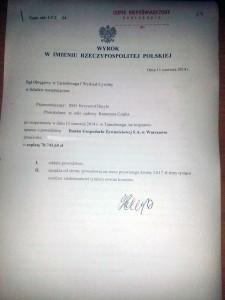 Wyrok w sprawie przeciwko BGŻ  - AntyWindyk.pl