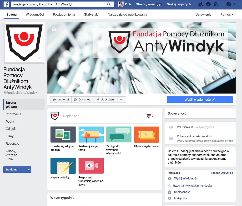 Profil fundacji na Facebooku