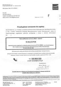 Wezwanie do zapłaty EOS KSI Polska